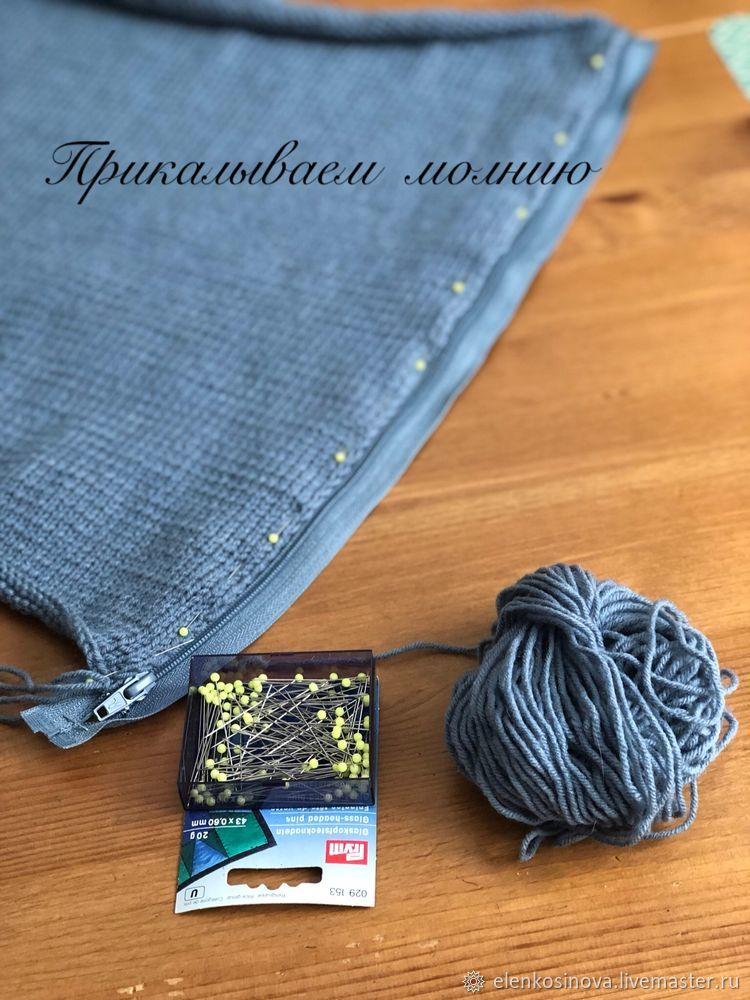 Вяжем наволочку спицами для подушки 30 на 50 см, фото № 11