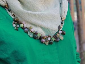 Как сделать платок-колье с отстёгивающимся браслетом «Дриада». Ярмарка Мастеров - ручная работа, handmade.
