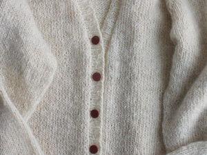 Новый кардиган (кофта, жакет) из козьего пуха. Ярмарка Мастеров - ручная работа, handmade.