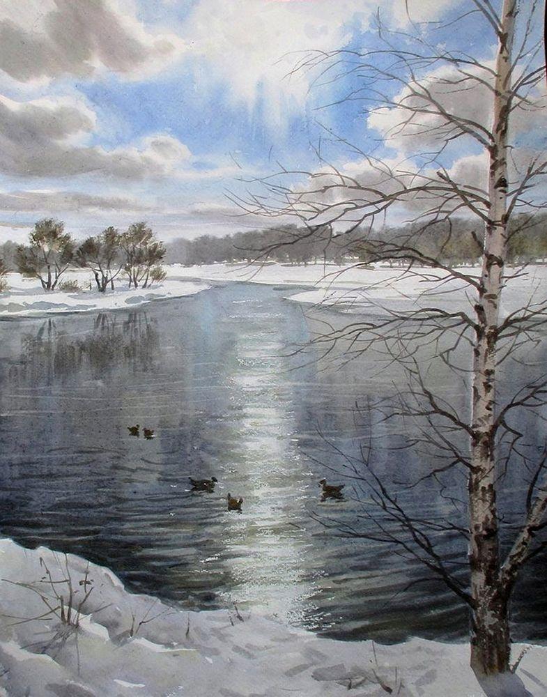 Акварельные пейзажи художника Ильи Горгоца, фото № 43