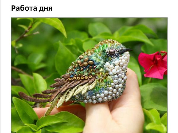 Колибри зеленая пташка на главной! | Ярмарка Мастеров - ручная работа, handmade
