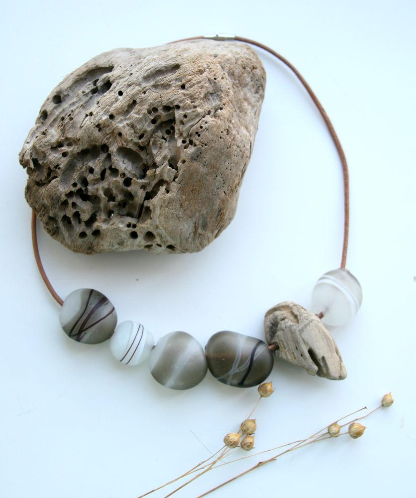 выдувание из стекла, морские камушки