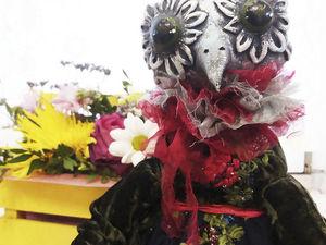 Сова. Будуарная кукла.. Ярмарка Мастеров - ручная работа, handmade.