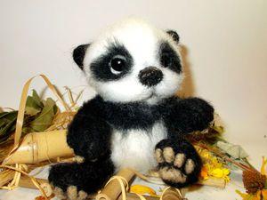 Валяем симпатичную панду. Ярмарка Мастеров - ручная работа, handmade.