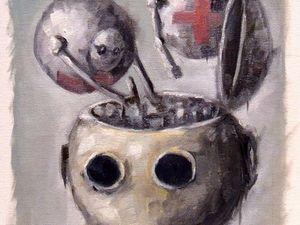 """Творческий ежедневник. День 35. Этюд """"Ремонт"""". Ярмарка Мастеров - ручная работа, handmade."""