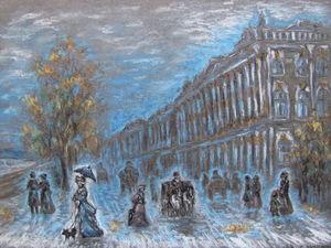 Картина « Петербург » Пастель графика. Ярмарка Мастеров - ручная работа, handmade.