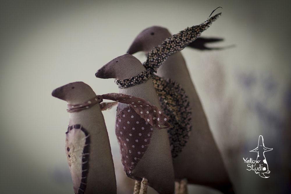 текстильные птицы