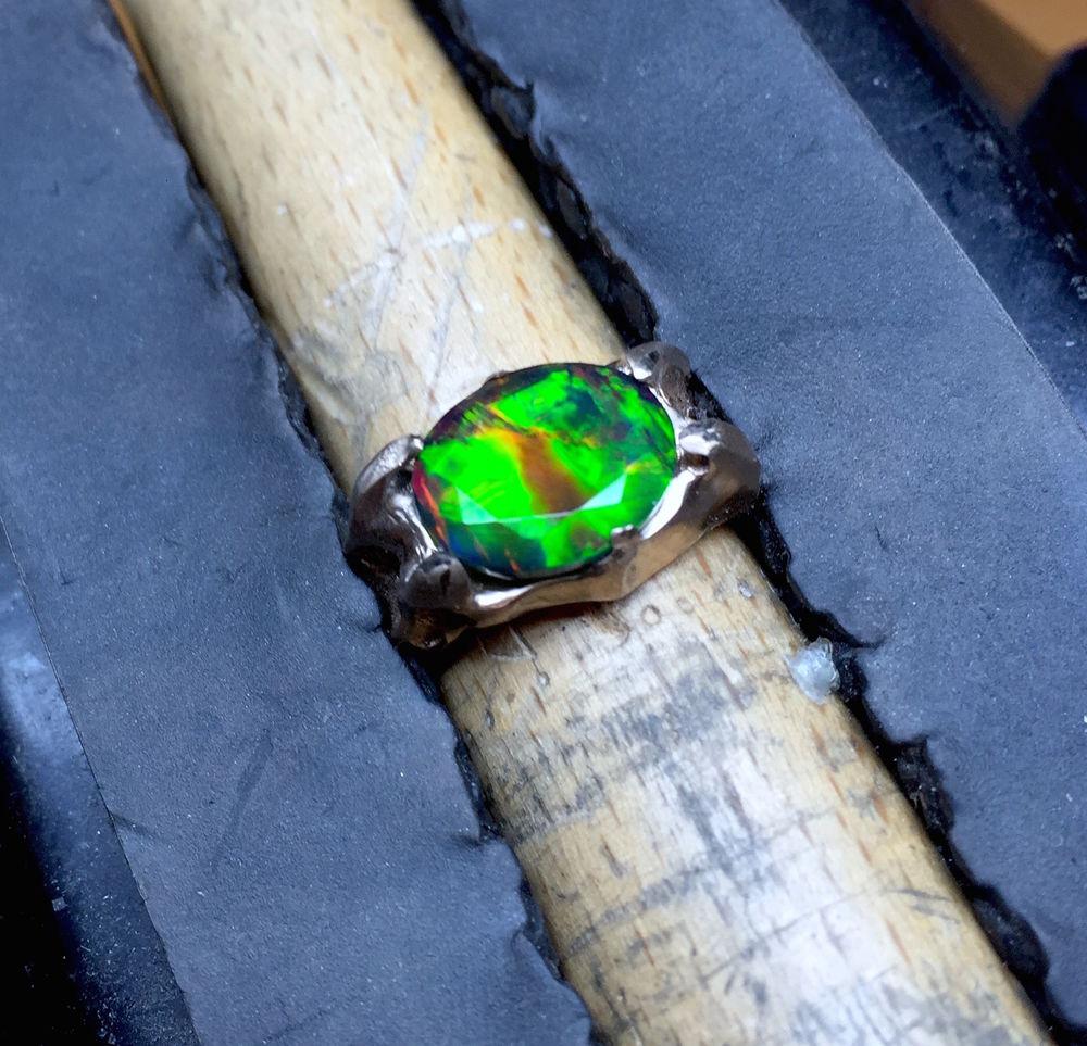 натуральный опал, кольцо с опалом, золотое кольцо, кулон с опалом