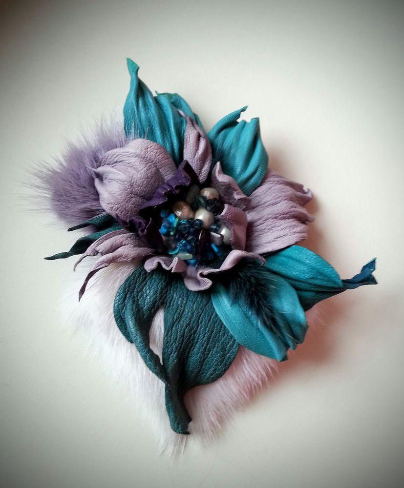 кожаная флористика, осенняя мода
