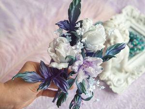 Мастер класс. Цветы из ткани Алены Абрамовой. Обучение. Техника живой цветок.  Роза