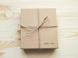 How to Make a Stylish Gift Box of Cardboard. Livemaster - handmade