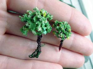 Два способа создания микро-деревьев. Ярмарка Мастеров - ручная работа, handmade.