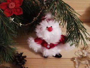 Делаем с детьми игрушку на елочку: Санта из перчатки. Ярмарка Мастеров - ручная работа, handmade.