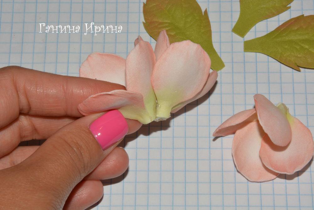 Цветы яблони из фоамирана своими руками с пошаговым фото для начинающих 72