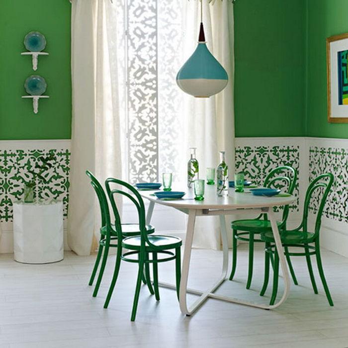 интерьер, салатовый цвет, цветовые решения