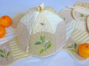 Комплект на кухню Флердоранж. Ярмарка Мастеров - ручная работа, handmade.