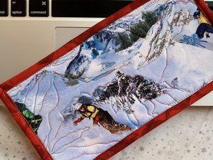Как сделать новогодний подарок? Текстильная открытка своими руками. Часть 2. Ярмарка Мастеров - ручная работа, handmade.
