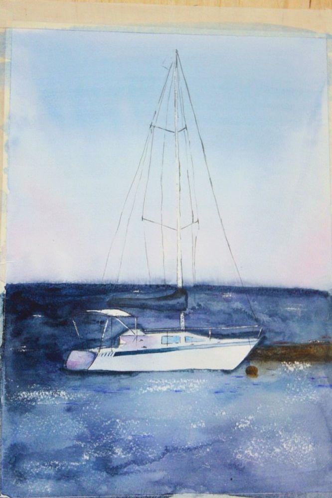 обечение, арт-студия в москве, рисование, акварельная живопись, море