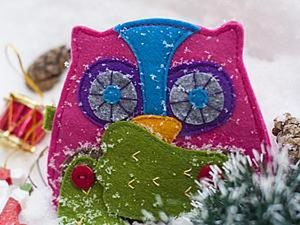 How to Make a Felt Owl Purse at Home. Livemaster - handmade