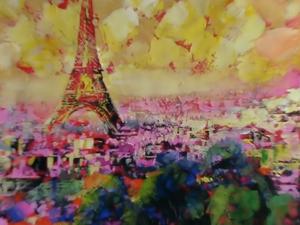 В розовых тонах картина маслом. Ярмарка Мастеров - ручная работа, handmade.