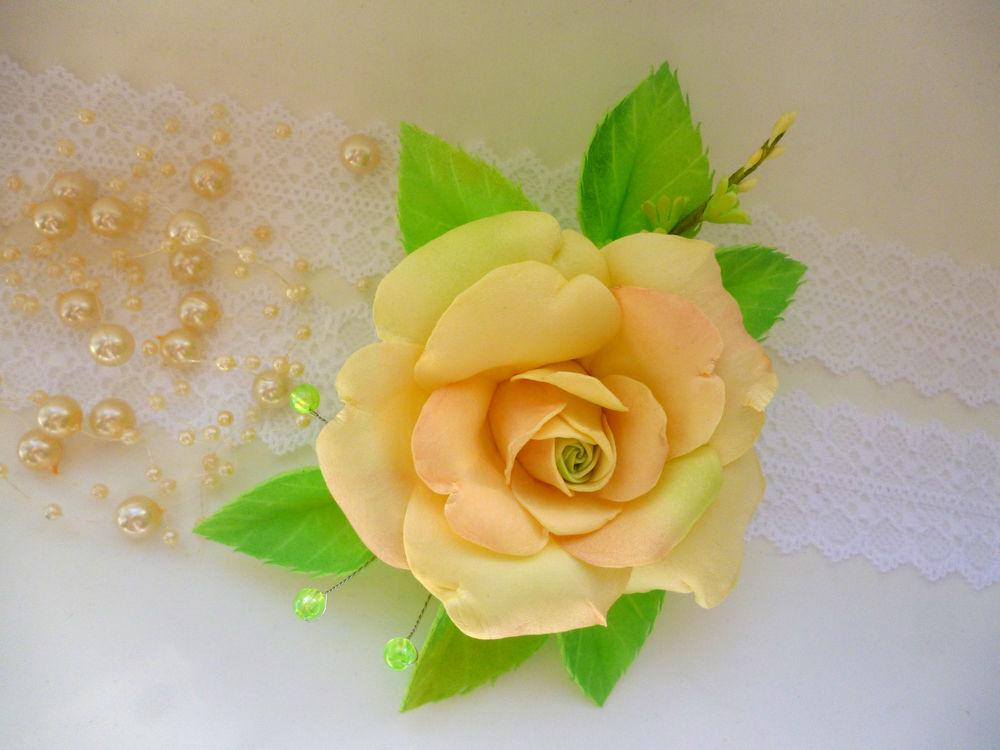брошь цветок, ручная работа