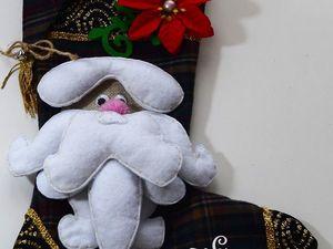 Шьем нарядный новогодний сапожок. Ярмарка Мастеров - ручная работа, handmade.