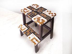 Декорируем плиткой мозаикой деревянную табуретку-лестницу. Ярмарка Мастеров - ручная работа, handmade.