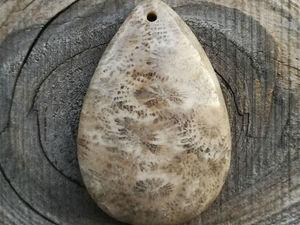 Видео подвески из окаменелого коралла 0190. Ярмарка Мастеров - ручная работа, handmade.