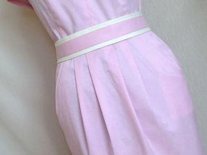50% скидка на готовое летнее платье (хлопок с шелком). Ярмарка Мастеров - ручная работа, handmade.