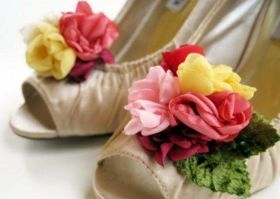 Как сделать цветок для туфлей
