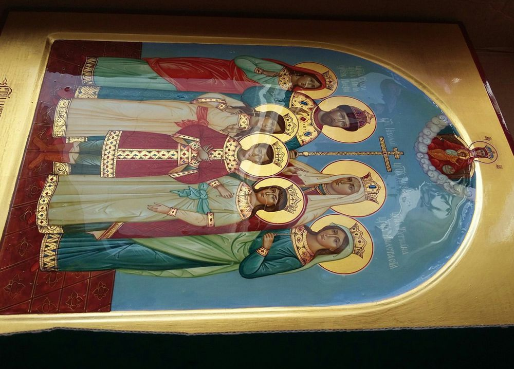 царственные мученики, живопись, воскресение христово, образ