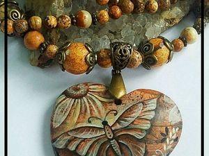 Розыгрыш кулона от Марины Захаровой миниатюра на камне. Ярмарка Мастеров - ручная работа, handmade.