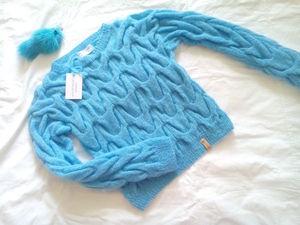 Нежный Вязаный свитер со Скидкой -20%. Ярмарка Мастеров - ручная работа, handmade.