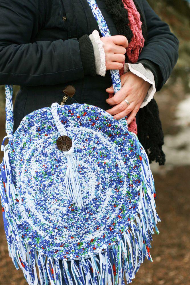 сумка вязанная
