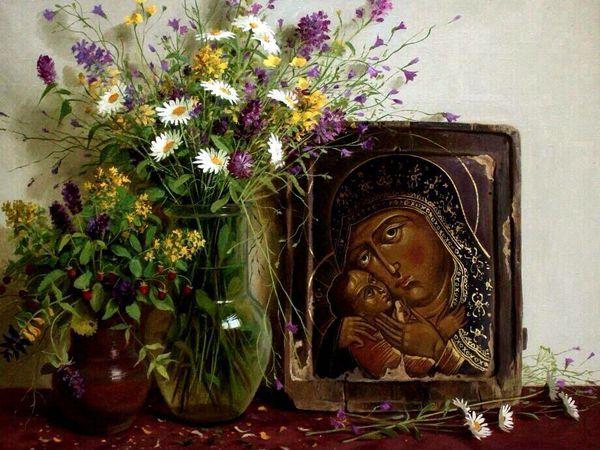 С праздником -Успение Пресвятой Богородицы.   Ярмарка Мастеров - ручная работа, handmade
