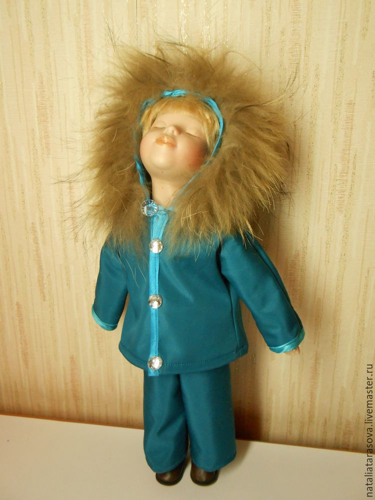 Как кукле сшить куртку 16