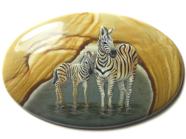 Аукцион: зебры на яшме | Ярмарка Мастеров - ручная работа, handmade