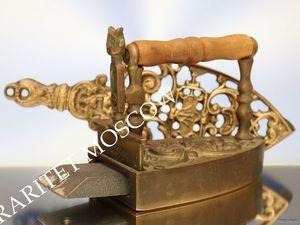 РЕДКОСТЬ Утюг с подставкой антикварный лев бронза 6. Ярмарка Мастеров - ручная работа, handmade.