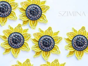 Creating a Bright Soutache Sunflower Brooch. Livemaster - handmade