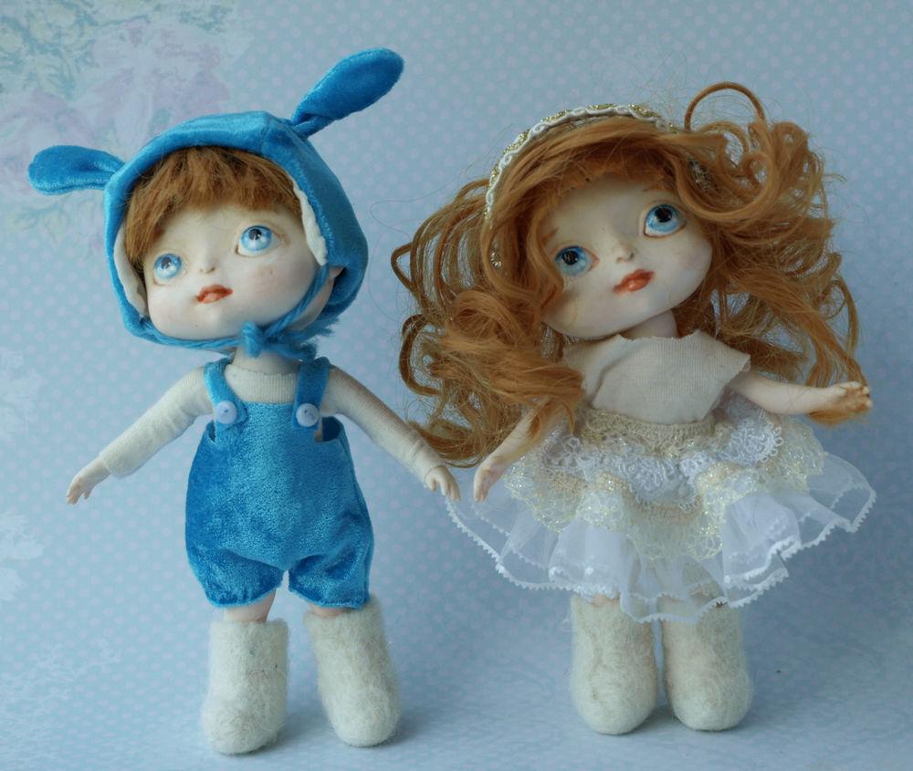 кукла зайчик, куклы ручной работы