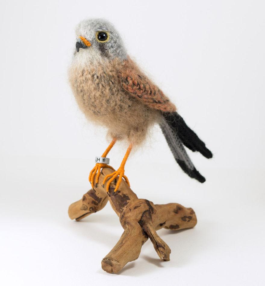 Вот-вот взлетят: реалистичные вязаные птицы Jose Heroys, фото № 8