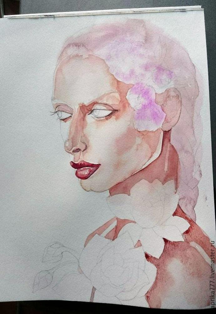 акварельная картина, рисование для начинающих, картина для интерьера