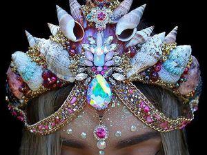 Великолепные короны из морских ракушек от Chelsea Shiels | Ярмарка Мастеров - ручная работа, handmade