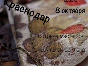 8октября. Краснодар. Встреча мастеров и любителей войлока.. Ярмарка Мастеров - ручная работа, handmade.