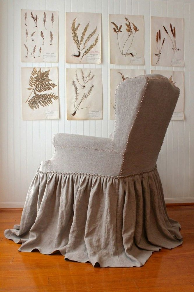L.S. Slipcovers via Holly Mathis. the tiny knot detail.