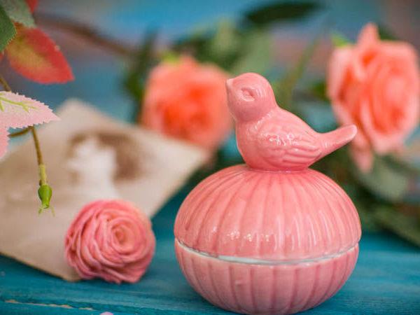 Подарок сентября - Шкатулка Птичка-невеличка, керамика   Ярмарка Мастеров - ручная работа, handmade