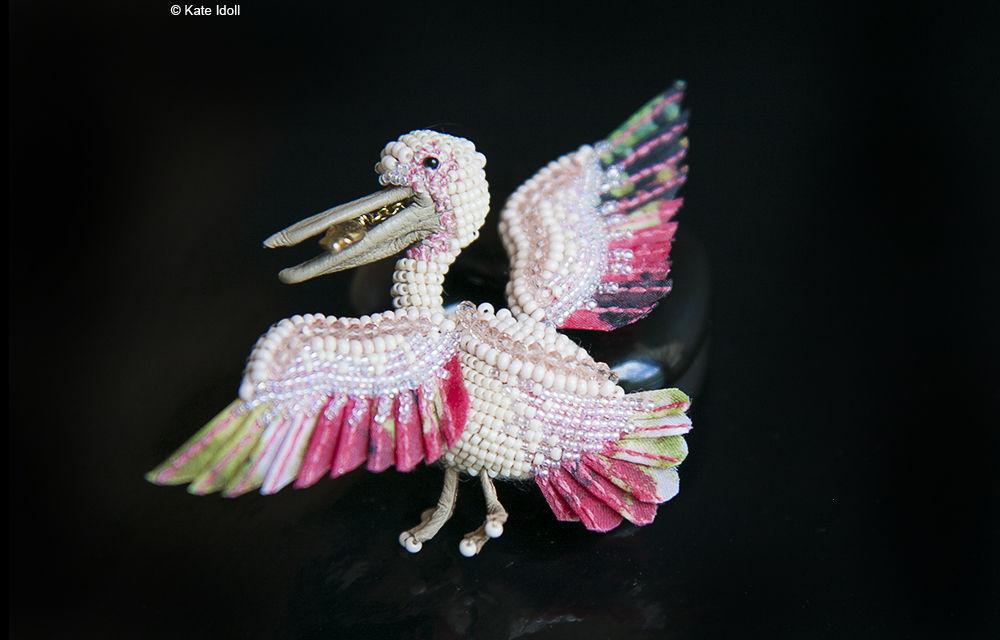 Скульптурная вышивка на примере миниатюрной птички-броши, фото № 3