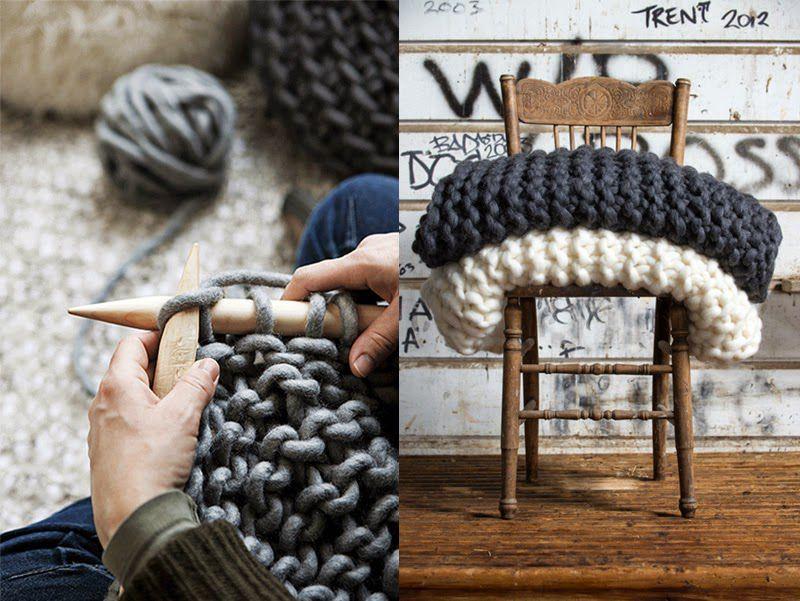 Толстые нитки для пледа вязание на руках