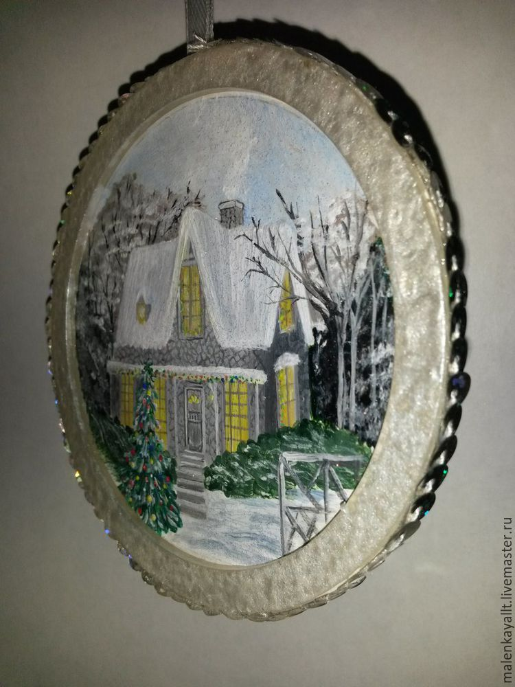 Новогодний медальон своими руками: мастер-класс, фото № 19
