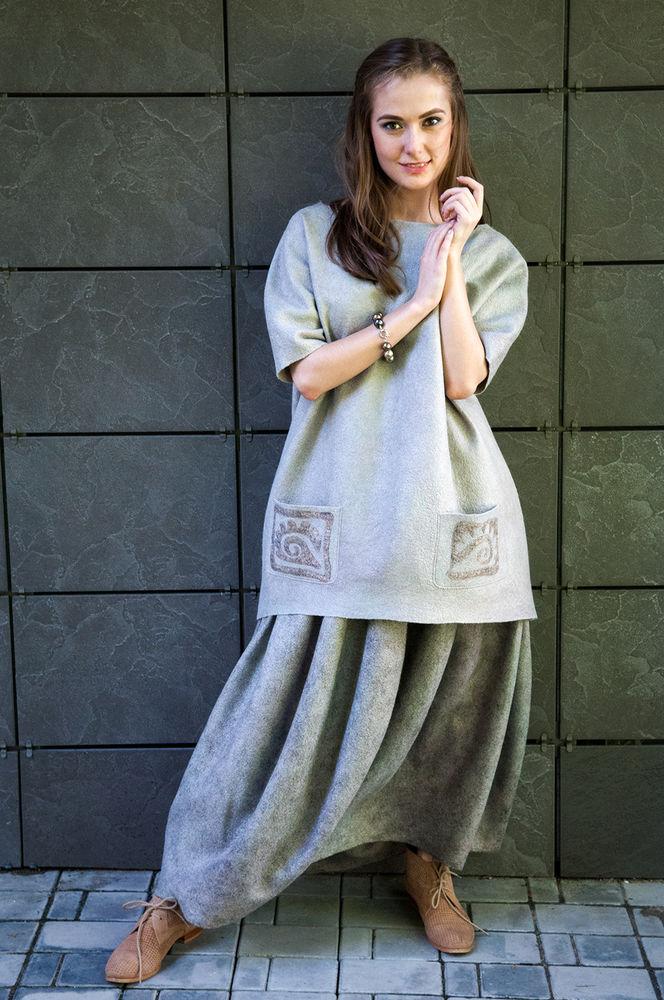 мастер-класс, валяная одежда, необычная одежда, юбка солнце
